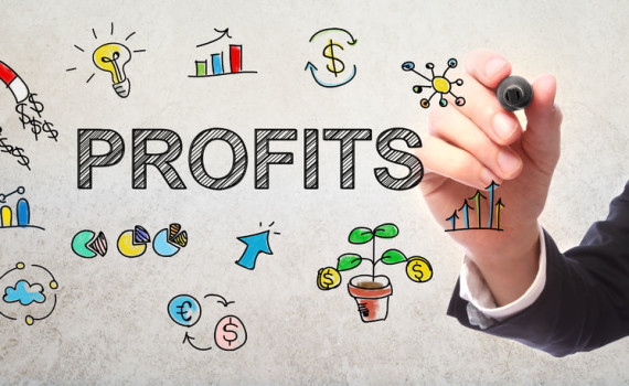55970849 - businessman drawing profits concept with a marker