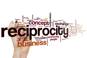 42054534 - reciprocity word cloud concept